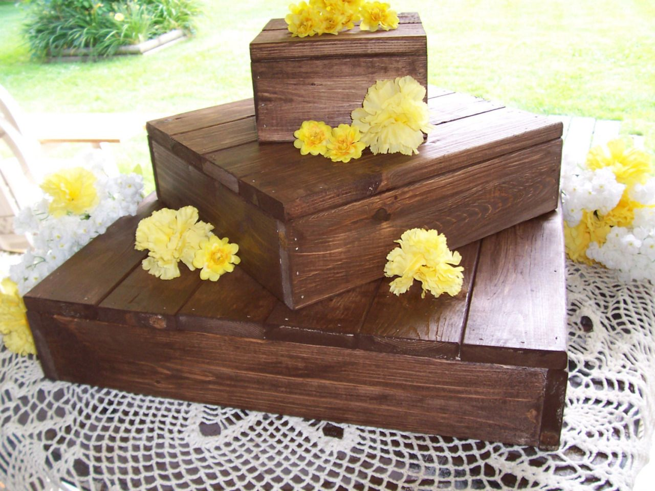 rustic wedding cake bases country vintage weddings cupcake stand crates bundle 19523
