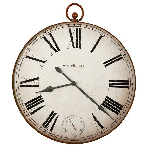 Oversized Gallery 32 Wall Clock In 2020 Oversized Wall Clock Howard Miller Wall Clock Wall Clock