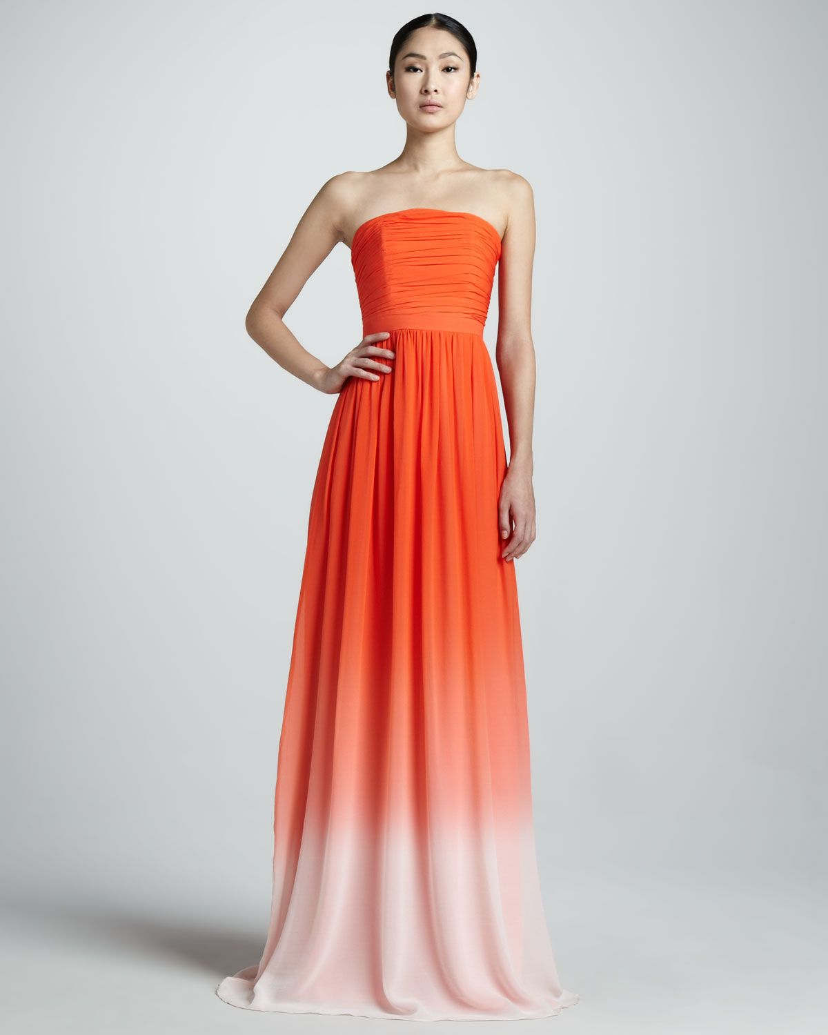Neiman marcus dresses for weddings  Erin by Erin Fetherston Strapless Ombre Gown  Dresses  Pinterest