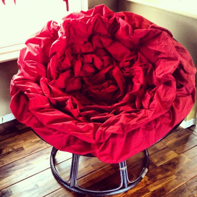 Love My Red Rose Papasan Cushion.