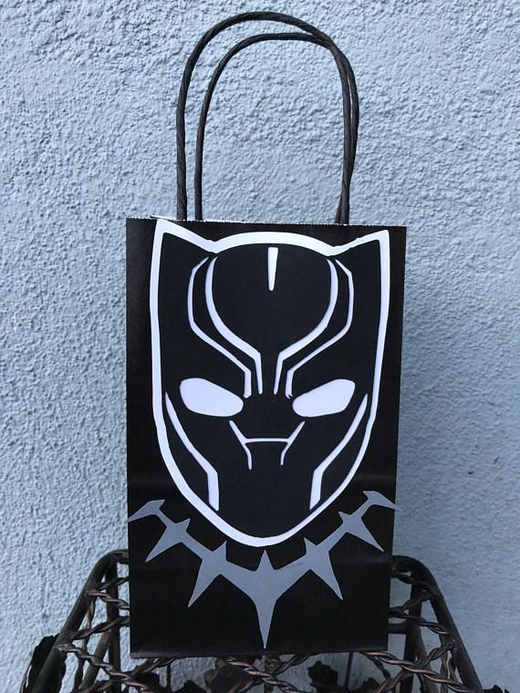 Super hero goodie bags favor bags favor box black panther etsy and black panther party