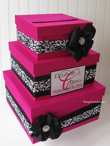 Custom Made Wedding Card Box By LaceyClaireDesigns 10600