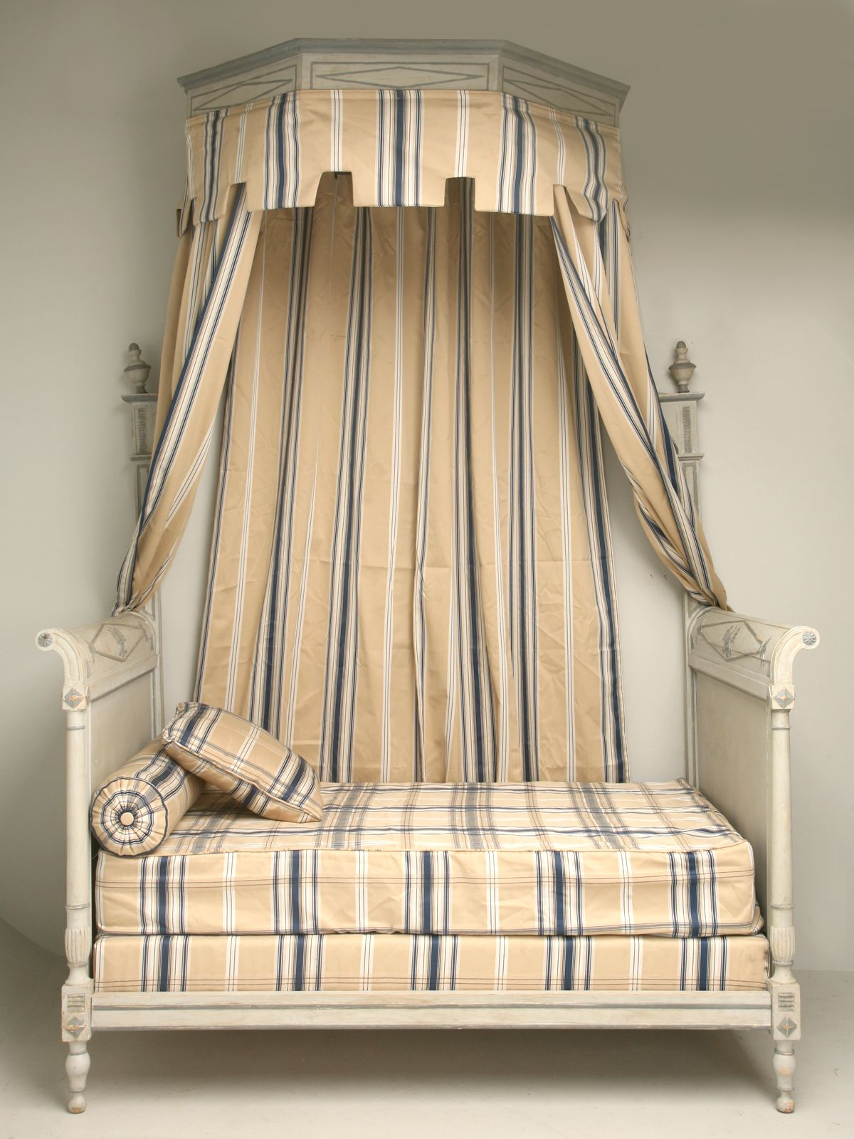 Antique French Directoire Style Canopy Bed From Old Plank