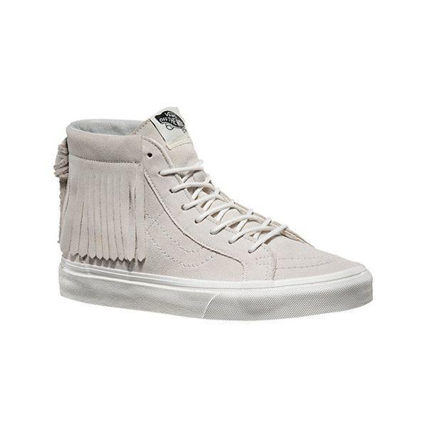 f3fd6aca66f1cb Vans Sk8-Hi Moc - Blanc De Blanc Suede Casual Shoes ( 80) ❤ liked ...
