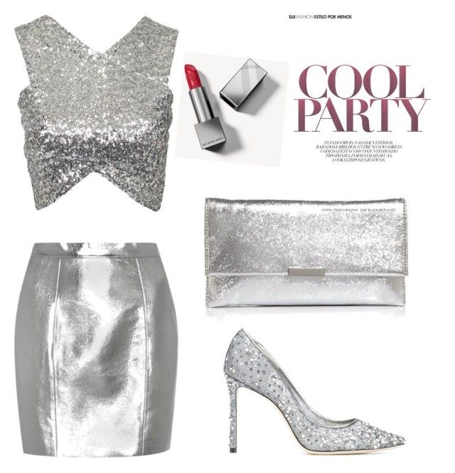 """""""Silver"""" by megyeria on Polyvore featuring Yves Saint Laurent, NLY Trend, Jimmy Choo, Loeffler Randall and Burberry"""