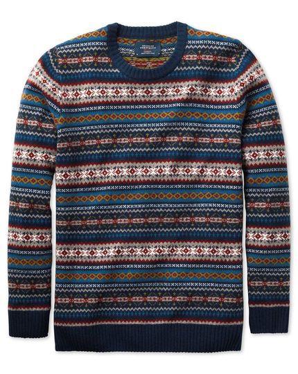 Charles Tyrwhitt Fair Isle merino wool sweater. | Sartorial ...