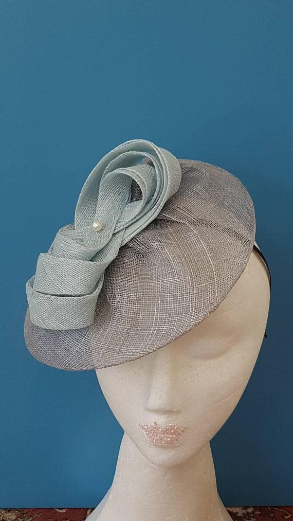 Items similar to Wedding fascinator, Grey fascinator hat, hats with veil, Ladies hat, Church hats, Cocktail hats, Bridal hat, ladies day hat, millinery hat on Etsy