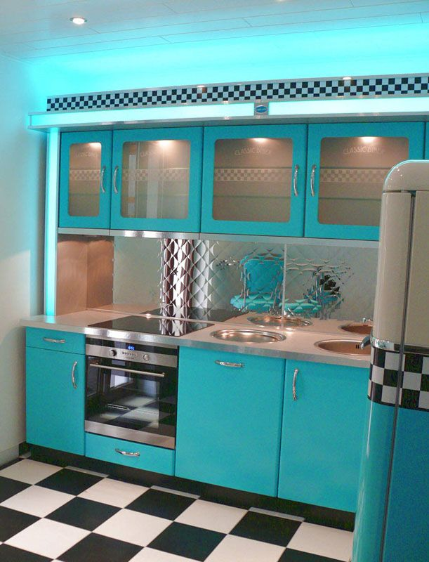 amerikanische theken bars im american style der 50er jahre 50s diner kitchen 50er k che. Black Bedroom Furniture Sets. Home Design Ideas