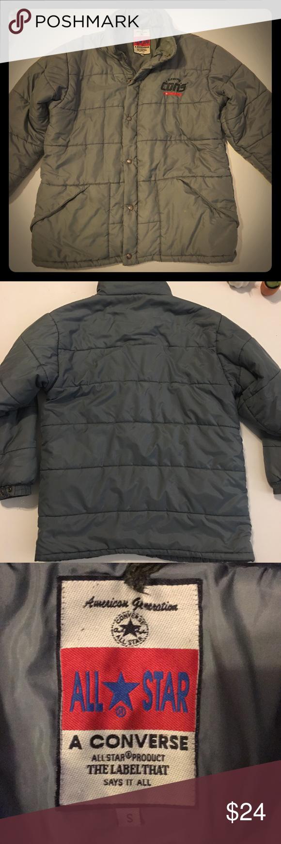 Converse VTG. all star jacket. Converse All-star puffy winter jacket. Rare b9b26506e294