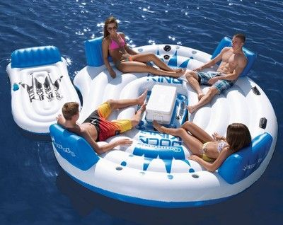 Connelly 11x9 Dock King Island Inflatable Free Lounge Floating Lake Raft Island Lake Rafts Cool Pool Floats Pool