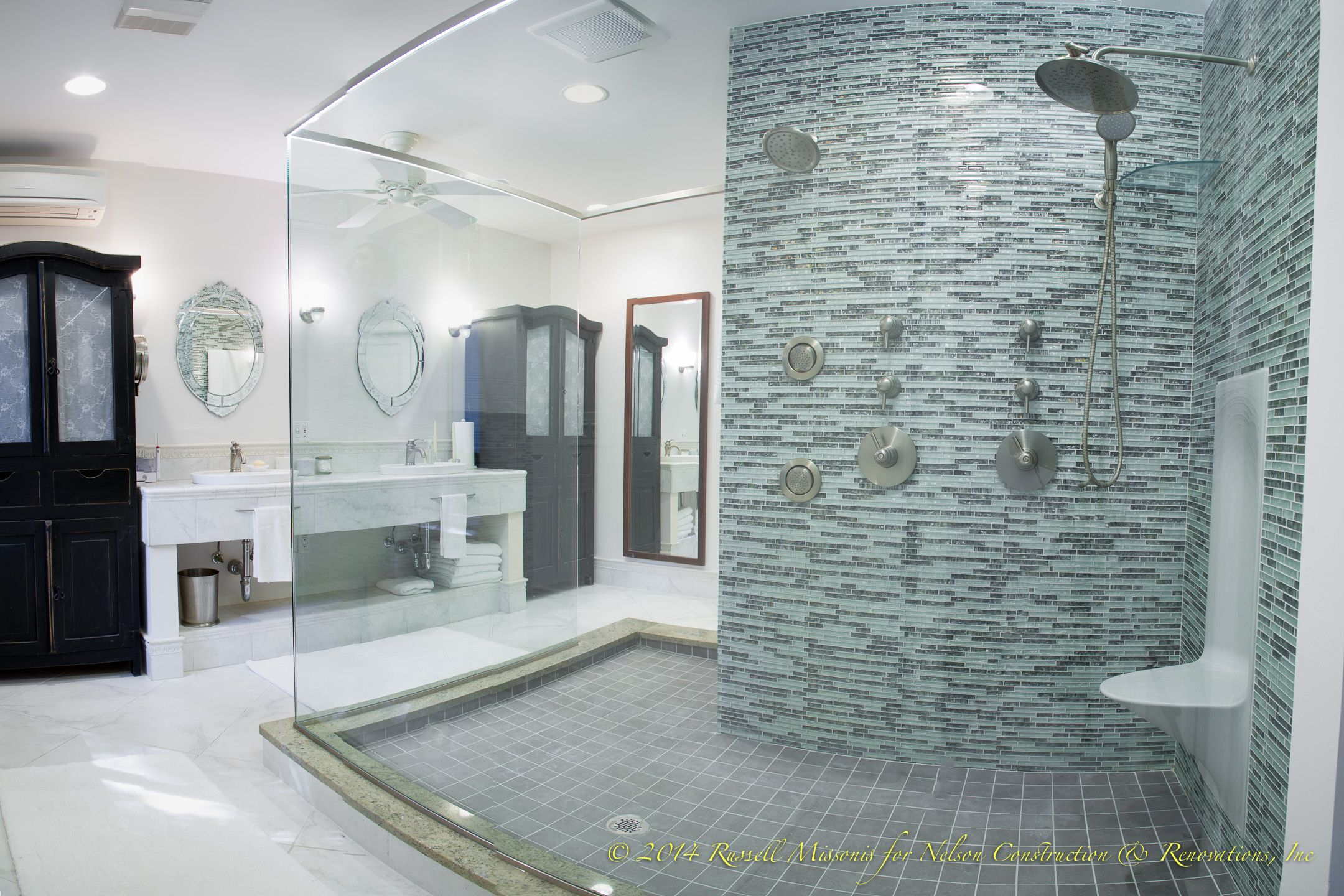 This bathroom was part of a custom home on the ...