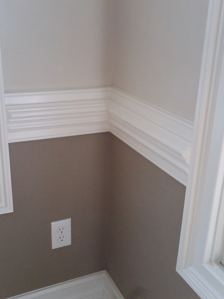 I like the two tone wall and white contrasting chair rail ...