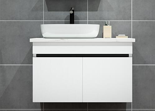 80cm bathroom vanity cabinet with above art basin #bathroomsink80cm