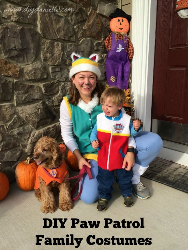 Paw patrol family halloween costumes unhappy ryder halloween this is a do it yourself paw patrol halloween costume for adults everest instead of using a tulle skirt like some people have done i opted for pants solutioingenieria Images
