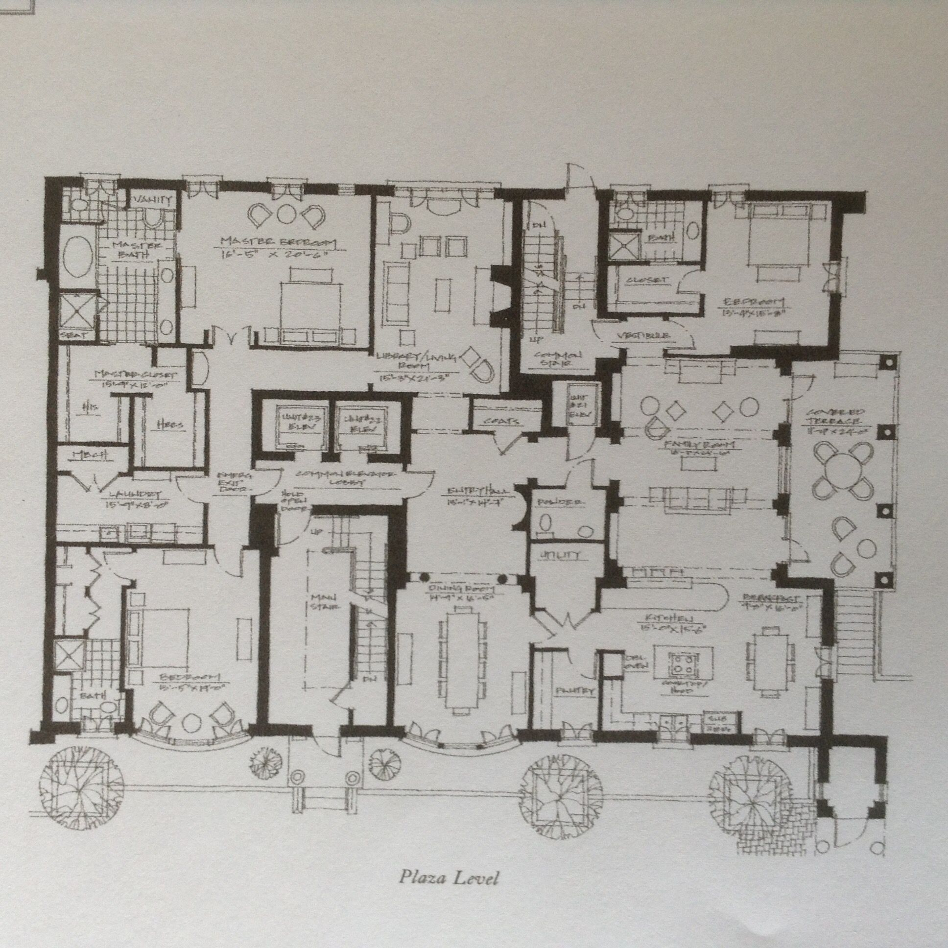 Regents Park Townhome Atlanta Plaza Level Flat Floor Plans House Plans Elevation Plan