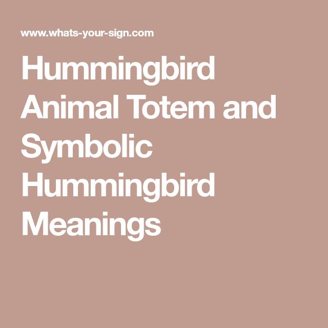 Hummingbird Animal Totem And Symbolic Hummingbird Meanings Tarot