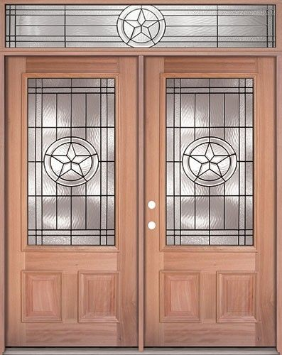 Texas Star 3 4 Lite Mahogany Prehung Wood Double Door Unit