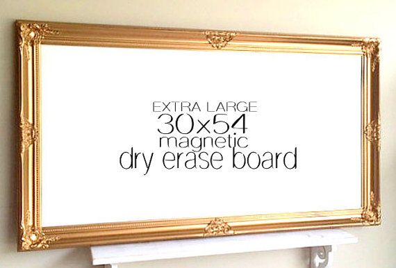Extra Large Magnetic Whiteboard Gold And White Baroque Large Dry Erase Board Framed Message Board Ho Magnetic White Board Dry Erase Board Framed Chalkboard
