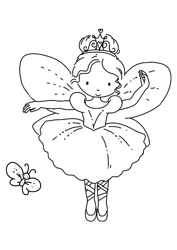 Print Coloring Image Momjunction Fairy Coloring Pages Ballerina Coloring Pages Dance Coloring Pages