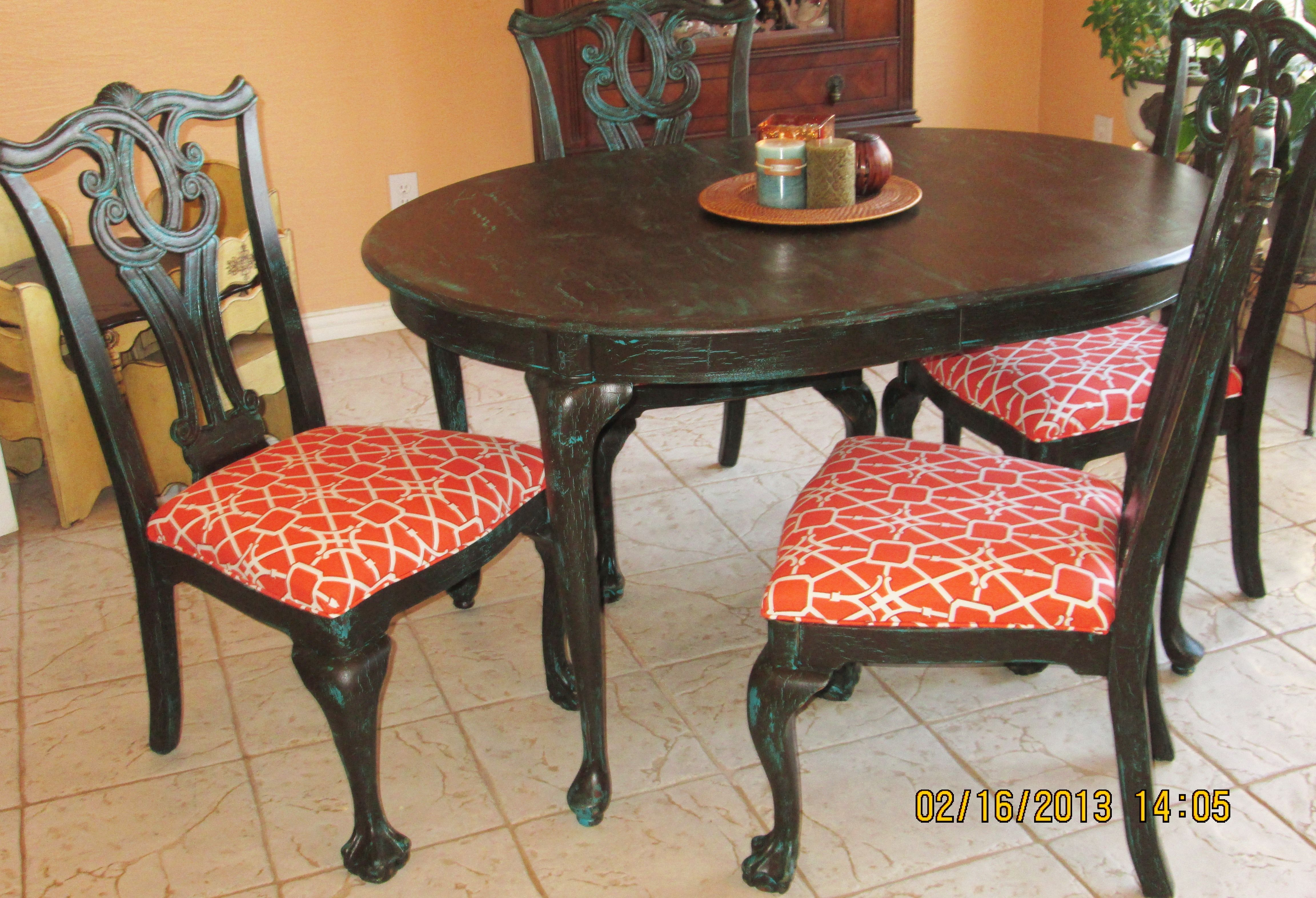 painted queen anne sofa table stanton sofas reviews i refinished this old wood with legs then