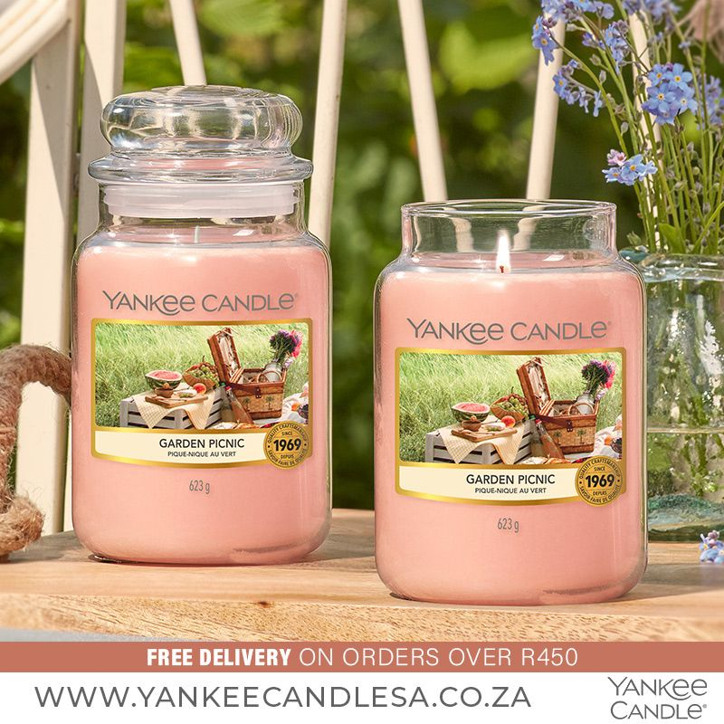 What your plans this weekend? Garden Picnic is a HOT seller this week! Bring your blanket and a basket of the ripest, juiciest fruit for a sunny picnic among the flowers. www.yankeecandlesa.co.za #OctoberFavourites #NewScents #GardenPicnic #YankeeCandle #YankeeCandleSouthAfrica #YankeeCandleSA #Love #Happy #Amazing #HomeDecor
