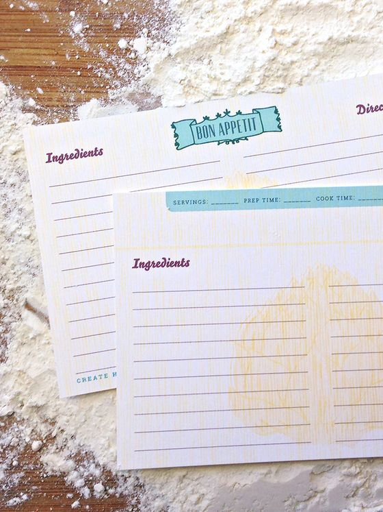 12 Artichoke Double-Sided Recipe Cards Pinterest Recipe cards