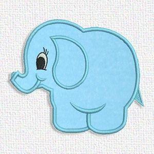 Adorable Applique Blue elephant applique