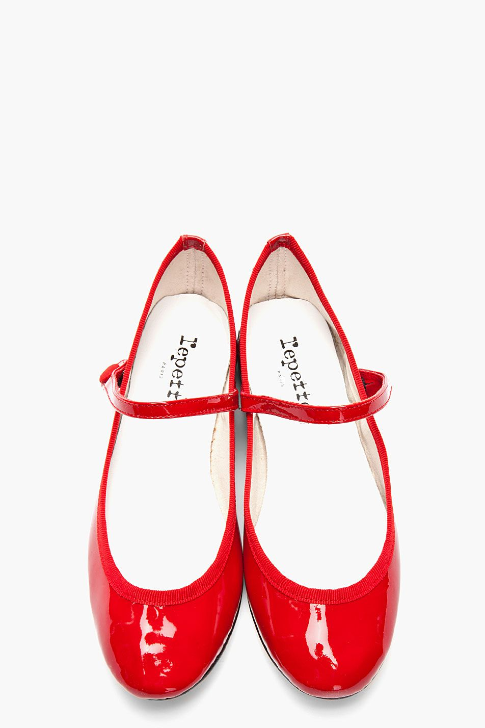c7bf221bc0f REPETTO   RED LIO PATENT MARY JANE FLATS