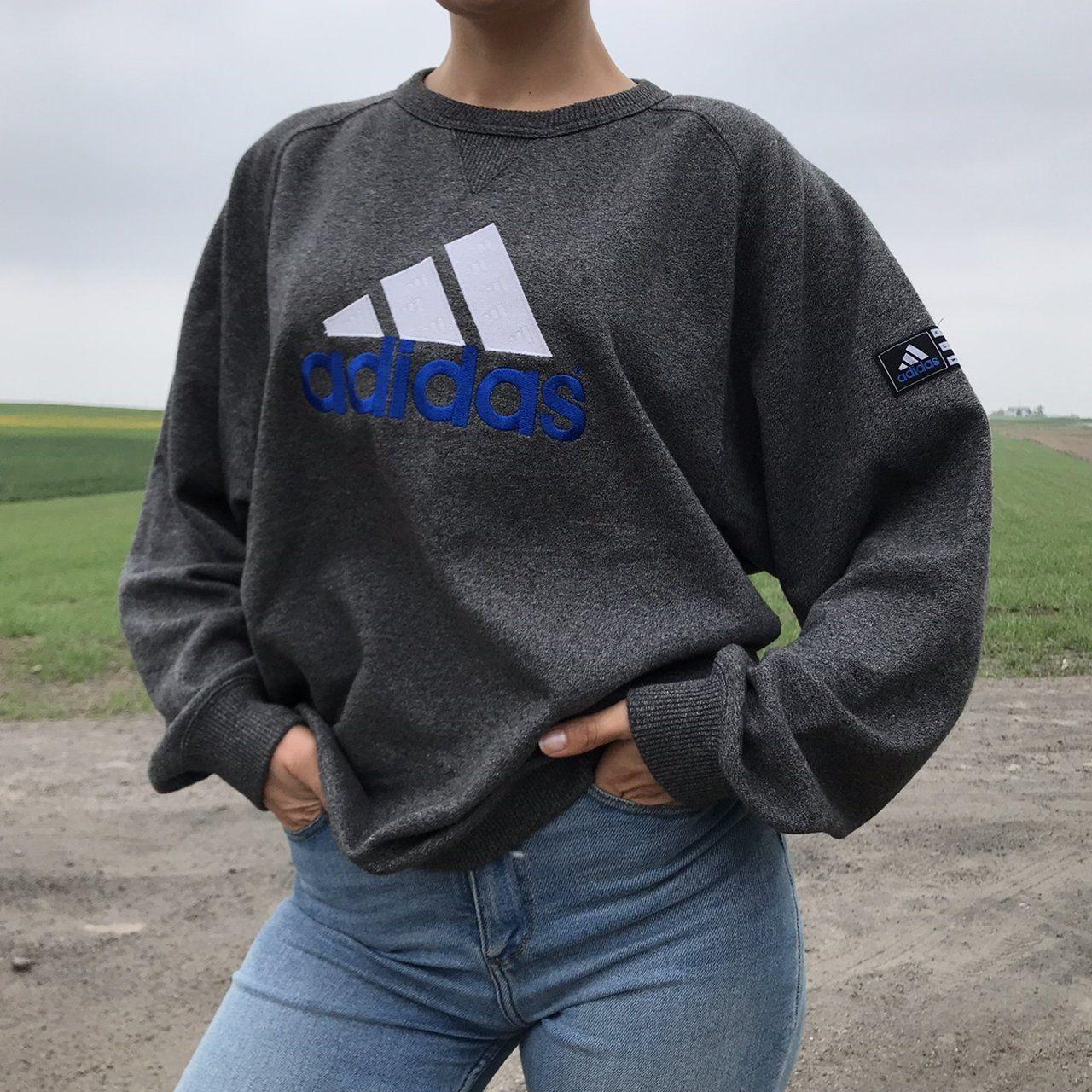 Vintage Adidas Sweatshirt 3 Stripes Size L 40 42 Gb Worn Depop Sweatshirts Vintage Adidas Sweatshirt Vintage Sweatshirt [ 1280 x 1280 Pixel ]