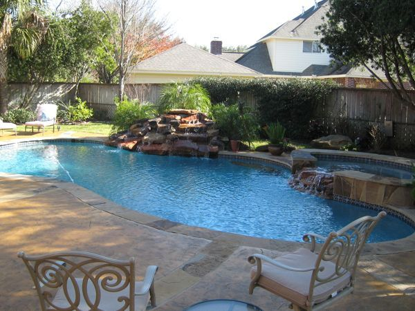 decoration pool ideas for small yard wonderful and comfortable design with some plants give freshness air ideas art decorating sit in two small chair and - Backyard Pool Design Ideas