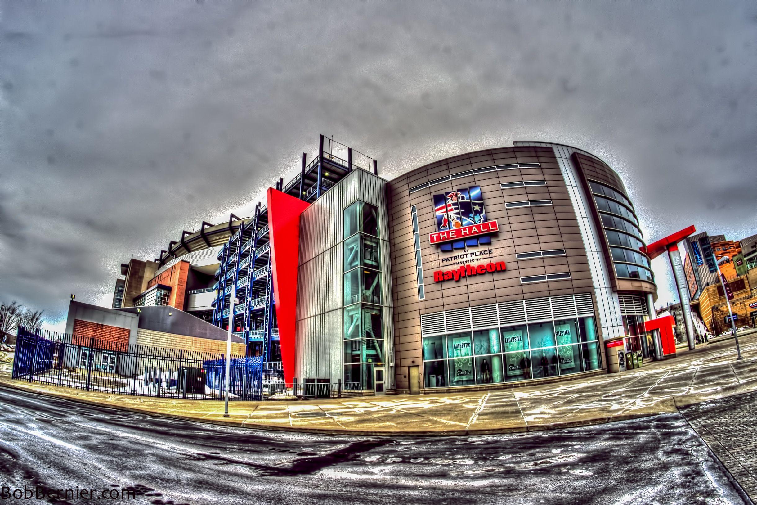 Day 144 The Hall Patriot Place Gillette Stadium Foxboro Massachusetts Wind World Gillette Stadium New England