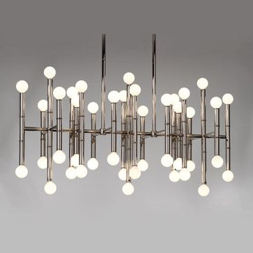 Pin On Lighting, Mid Century Modern Rectangular Chandelier