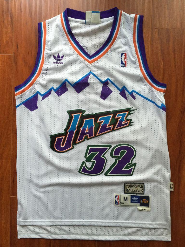 be47cb9df Men 32 Karl Malone Jersey White Utah Jazz Jersey Throwback Swingman ...