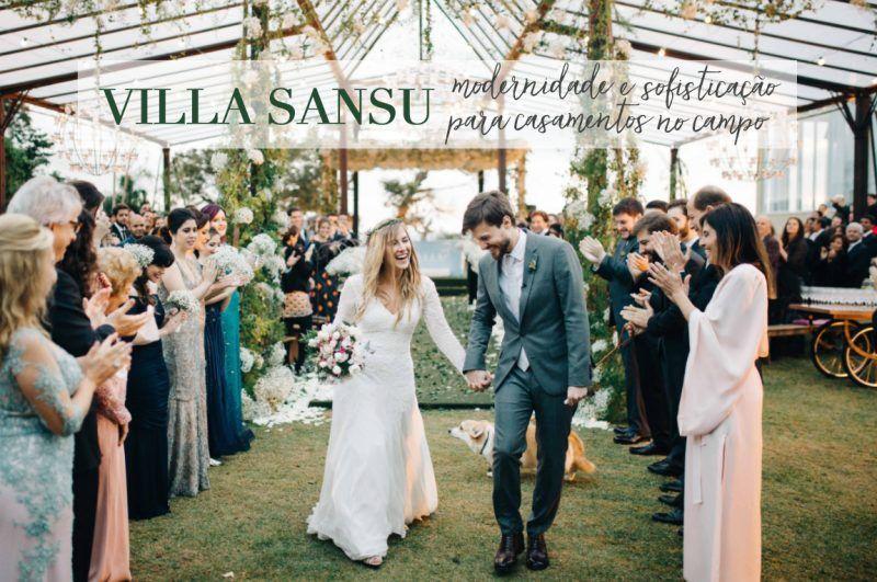 Villa Sansu: modernidade e sofisticação para casamentos no campo