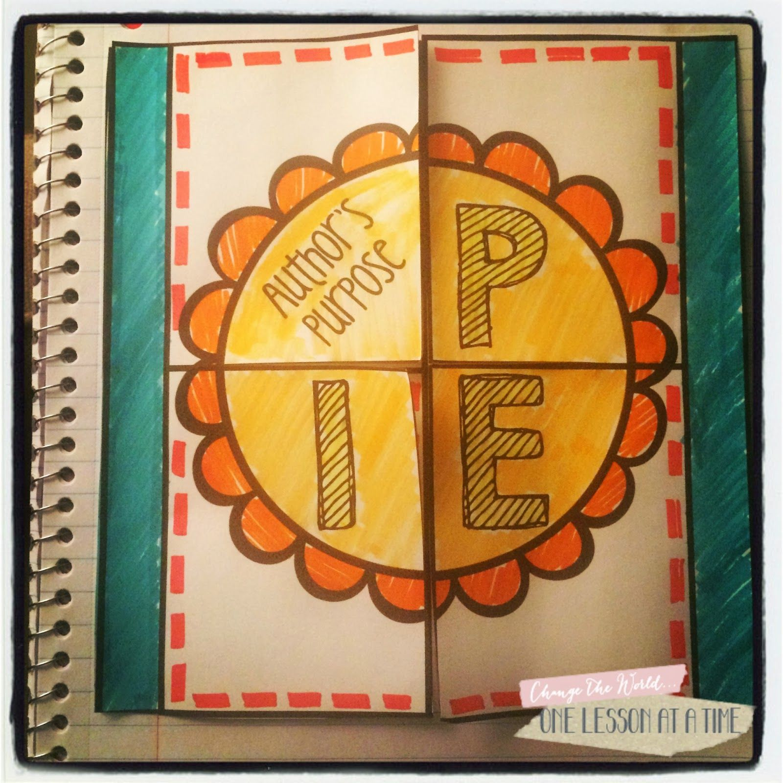 Author S Purpose Interactive Notebook Freebie