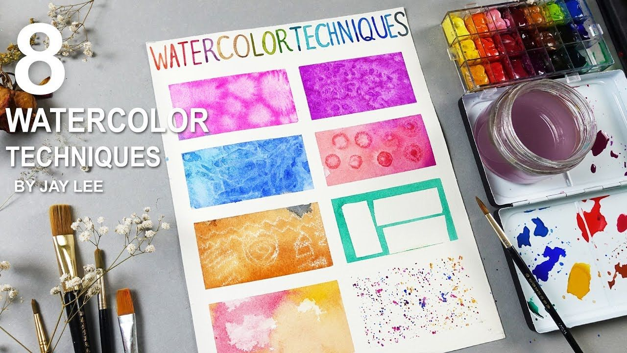 8 Basic Watercolor Techniques For Beginners Watercolor