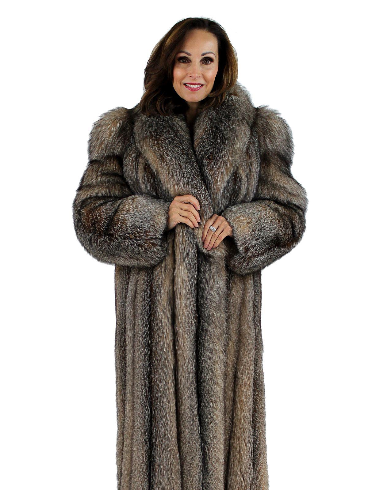 Coyote Fur Coat Womens Large Estate Furs >> Crystal Fox Fur Coat Women S Large Fur Board 21121222 Velvet