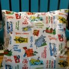 Dr. Seuss 14 x 14 Pillow Cover On sale for two days at TPT Perfect for a cozy reading nook!
