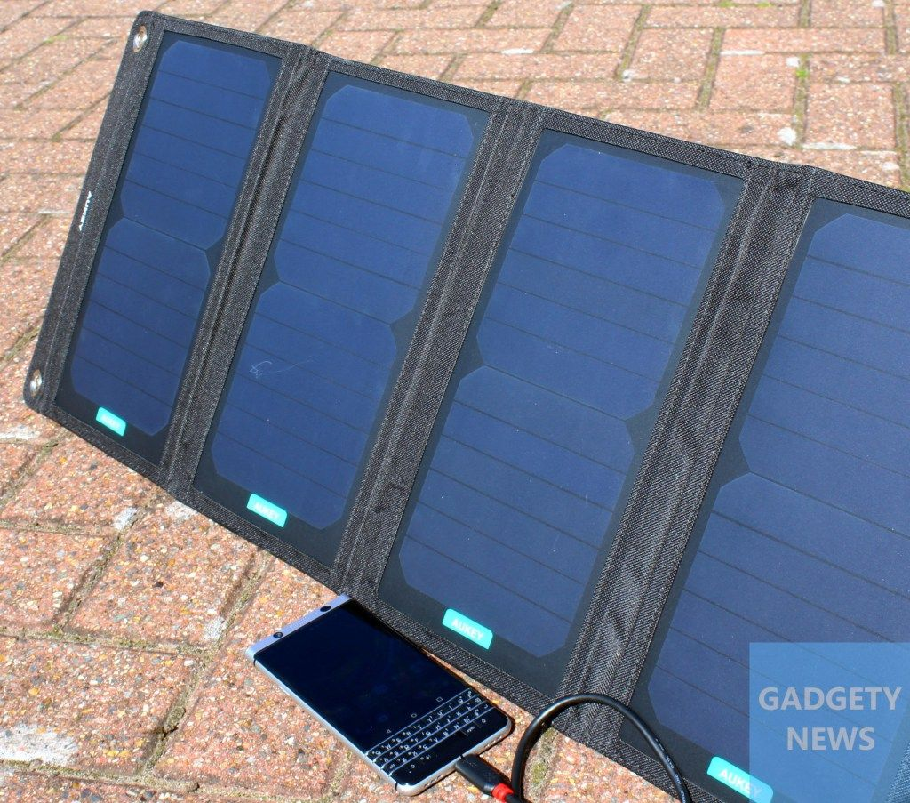Aukey PBP5 28w portable solar charger review Solar