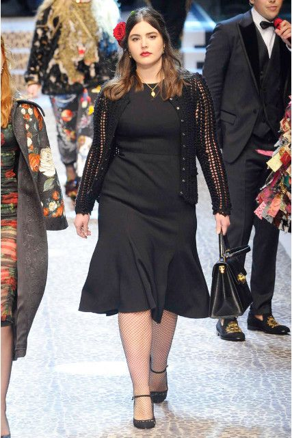 Dolce Gabbana uses plus size model Alessandra Garcia on the runway during  Milan Fashion Week! 0bb8cc6afae