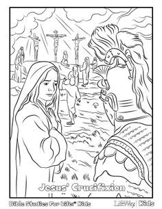 Jesus Crucifixion Coloring Sheet Easter Coloring Pages