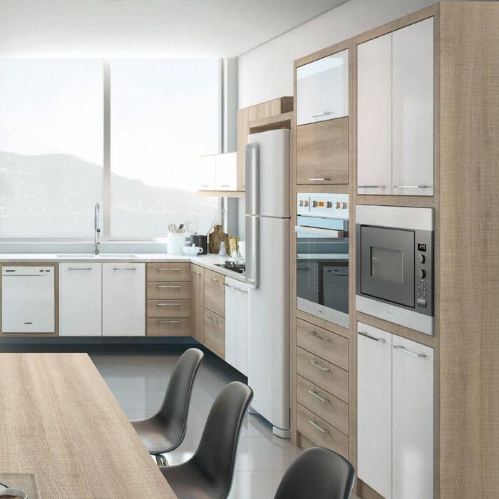 Móveis Planejados Cozinha Daico Irlanda Padrões Irlanda e Branco ...