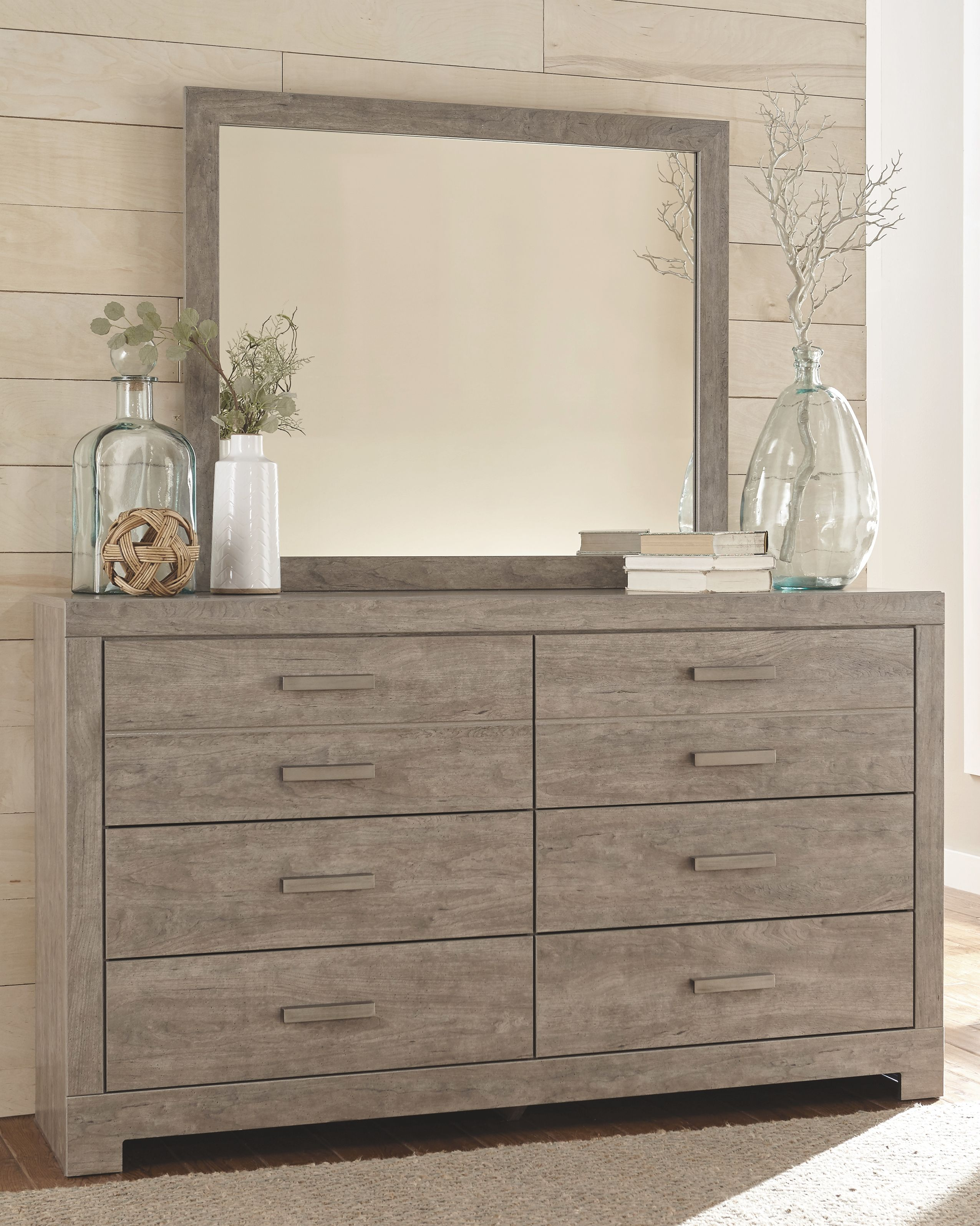 Culverbach Dresser and Mirror, Gray Ashley furniture