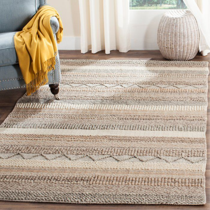 Daytona Beach Hand-Tufted Cotton Brown/Beige Area Rug