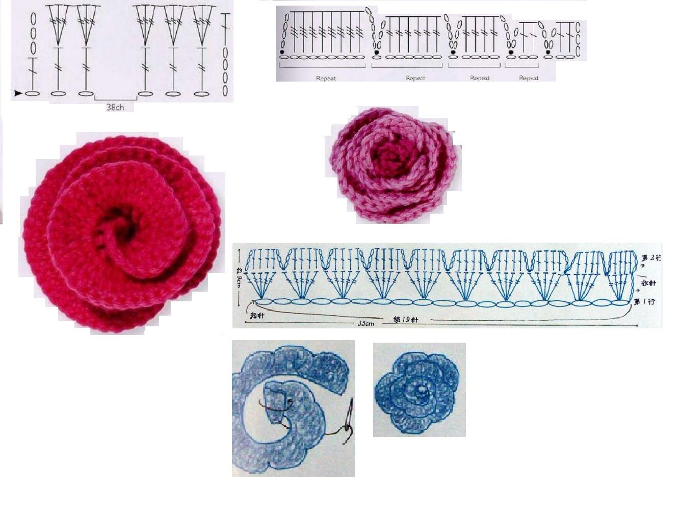 Rinconcito de Hada Nocturna: patrones | flores crochet | Pinterest ...