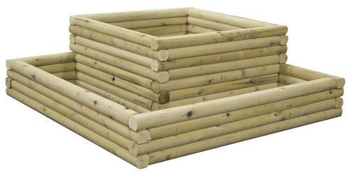 landscape timber two tier planter bed at menards landscape timber