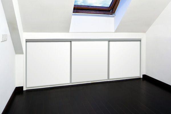 Sliding Wardrobe Doors For Loft Conversion 3 Door Storage Solution Maximises E Under The Eaves