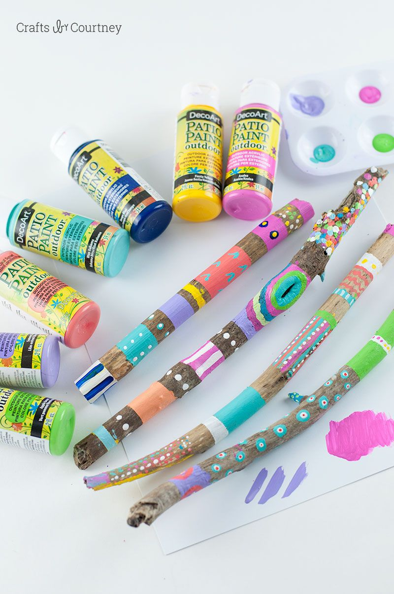 Painted Stick Nature Craft