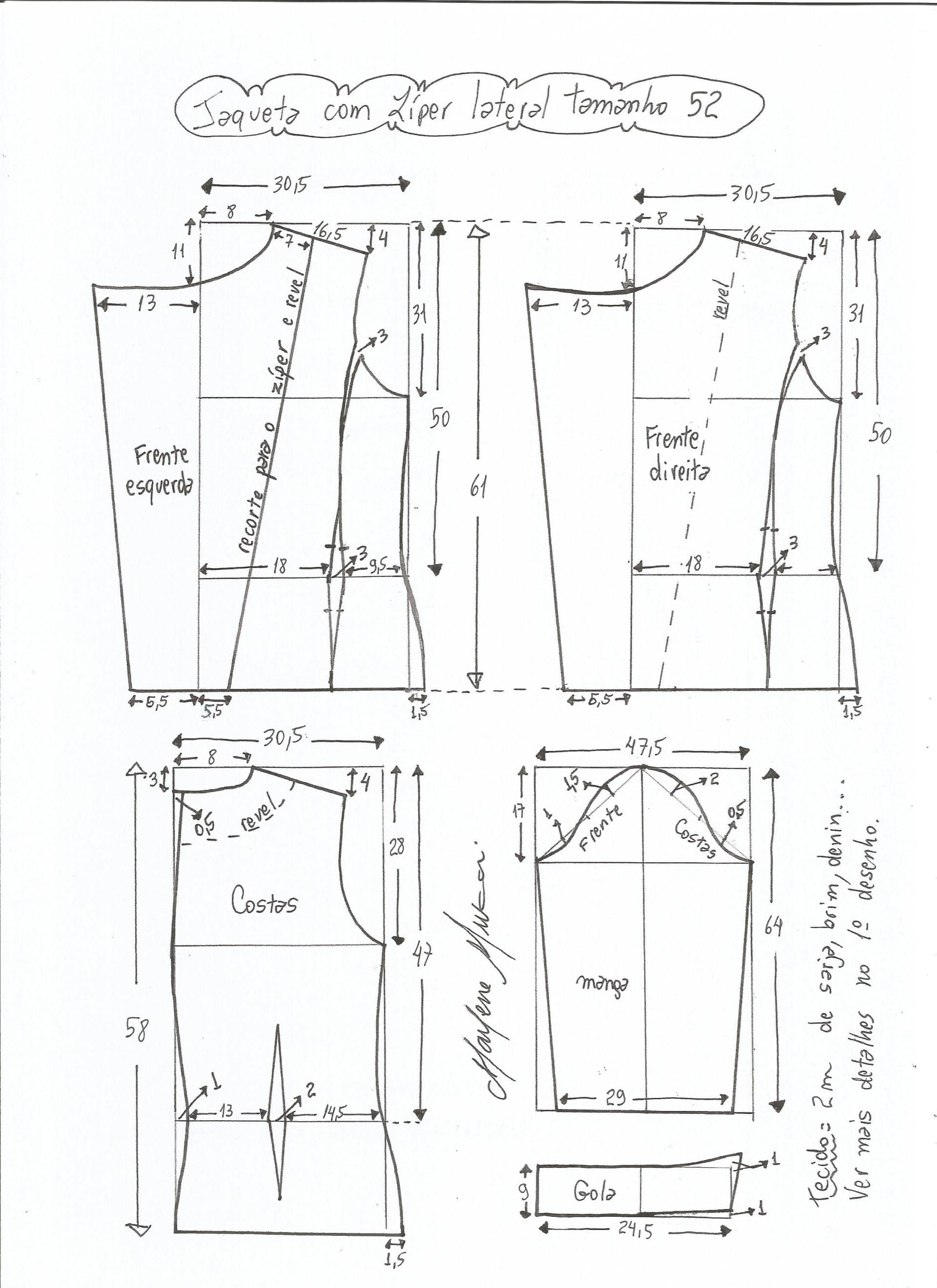 Patrón de chaqueta clásica | chaquetas | Pinterest | Costura, Patrón ...