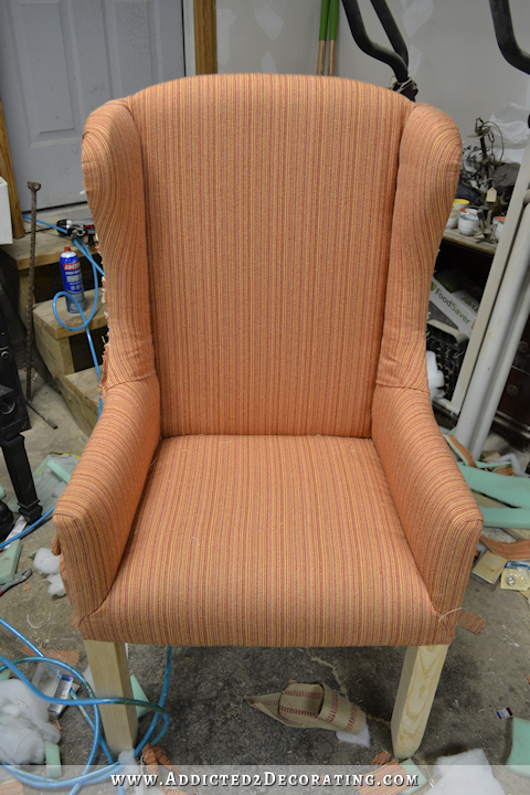 build dining room chairs high definition pics | DIY Wingback Dining Chair - How To Upholster The Frame ...